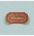 realistic christmas cardboard greetings card vector image