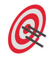 red arrow target icon isometric style vector image