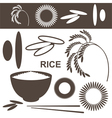 Rice Set vector image vector image