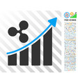 ripple trend up flat icon with bonus vector image vector image