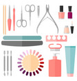 set manicure and pedicure tools vector image