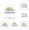 set of business finance logo concept finance vector image