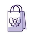 shadow cute gift bag cartoon vector image