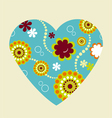 spring flower valentine heart vector image vector image