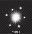 starburst stars transparent white lights vector image