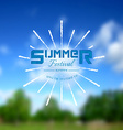 Summer festival realistic badge EPS10 vector image
