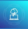 sync with cloud icon data upload synchronization vector image vector image