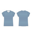 t-shirt blank template in blue stripe fabric vector image vector image