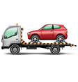 Towing truck vector image vector image
