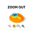 Zoom out icon in different style vector image