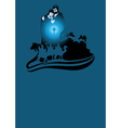three wise men card vector image