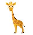giraffe cute cartoon character vector image