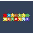 puzzle hello summer vector image