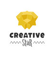 3d colorful star logo design element vector image