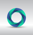 Abstract circle 3d logo icon vector image vector image