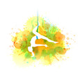 aero yoga watercolor vector image vector image