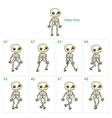 Animation of skeleton walking vector image vector image