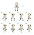 animation skeleton walking vector image vector image