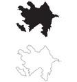 azerbaijan country map black silhouette