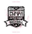 baseball team badge vector image vector image