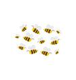 bees in flight cartoon vector image
