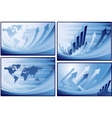 blue finance business background vector image vector image