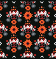 bohemian black red floral vector image vector image