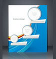 business brochure with blue and green elements vector image vector image