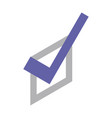 check note mark icon isometric style vector image vector image