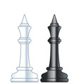 chess kings vector image vector image
