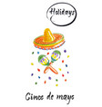 cinco de mayo watercolor vector image vector image