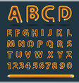 creative pencil alphabet style vector image