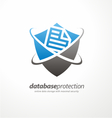 Data protection symbol concep vector image vector image