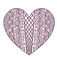 decorative ornamentalal heart valentines day vector image vector image