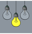 doodle style light bulbs vector image vector image