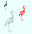 Egret vector image vector image