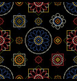 embroidery pattern bright seamless dark vector image vector image