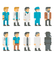 Flat design doctor uniform set vector image