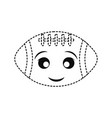 football sticker design vector image vector image