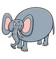 funny elephant animal cartoon character vector image vector image