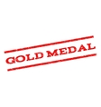 Gold Medal Watermark Stamp vector image vector image