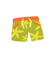 green shorts for swimming cartoon vector image vector image