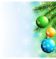 Greeting card New Year and Christmas background vector image