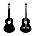 guitar black color icon vector image vector image