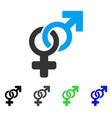 Heterosexual symbol flat icon
