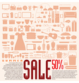 Home product 50 discount for summer sale vector image vector image
