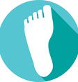 Human Foot Icon vector image vector image