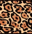 jaguar seamless pattern or leopard fur texture vector image vector image
