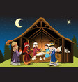 jesus christ and three wise men vector image