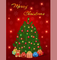 merry christmas greeting card design with vector image vector image